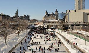 Ottawa & Rideau Kanalı'nda Buz Pateni