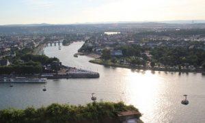Ren ve Mosel Nehri İle Çevrili Koblenz
